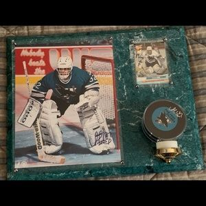 Arturs Irbe Autographed Photo & Puck Plaque